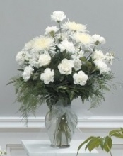 White Tribute Vase