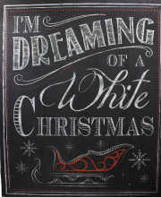 I\'m Dreaming of a White Christmas Wall Print