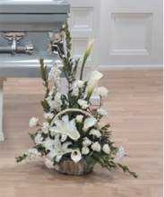 Stately Lily Tribute Basket
