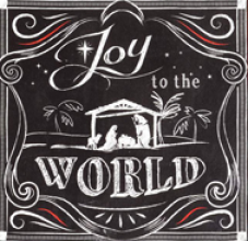 Joy To The World Canvas Wall Print