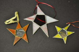 Stained Glass Star Ornaments - smaller